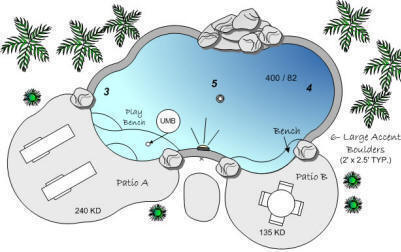 FF Tropical1 Pool Plans