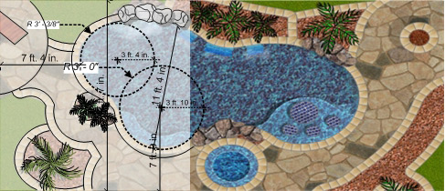 Pool templates pool software for Pool drawing software